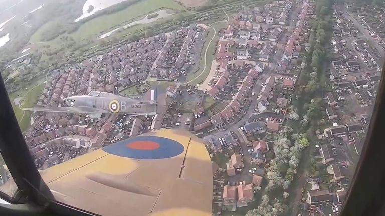 The view from a spitfire's cockpit