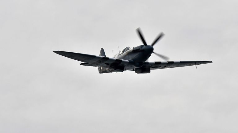 A spitfire and hurricane will fly over Tom Moore's home