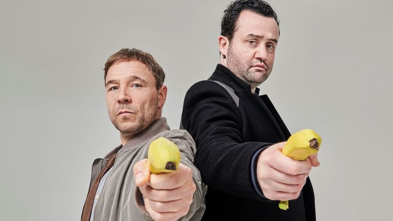 Stephen Graham and Daniel Mays in Code 404. Pic: Andrea Southam/ ©Sky UK Limited