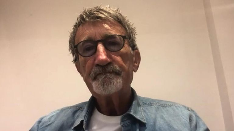 Eddie Jordan paying tribute to Sir Stirling Moss.