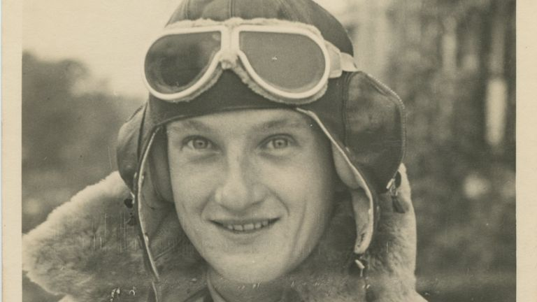 Stevie kitted up for his very first flight in 1941, aged just 19. Pic: Jonny Cracknell