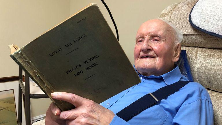 Stevie reading his logbook in the care home at Saxlingham Hall, Saxlingham Nethergate - Norfolk. Pic: Jonny Cracknell