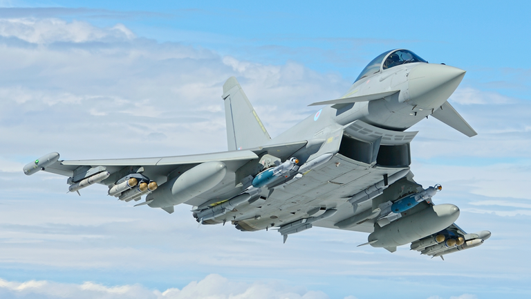 T3 Typhoon. Pic: MoD / SAC Cathy Sharples
