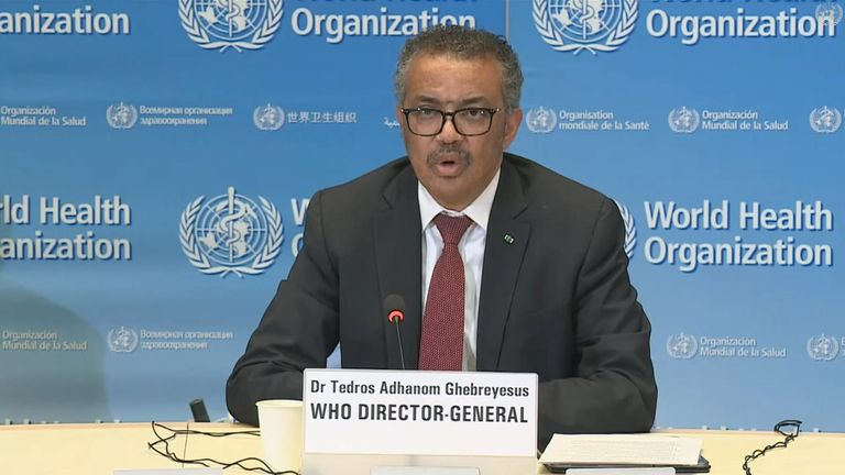 WHO boss Tedros Adhanom