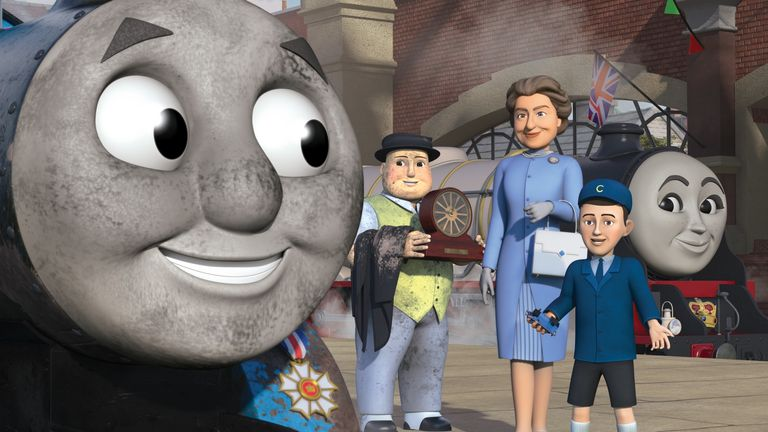 Thomas & Friends: The Royal Engine.... The special episode features Her Majesty The Queen and HRH The Prince of Wales as a child and has been produced as part of Thomas & Friends' 75th anniversary celebrations this year