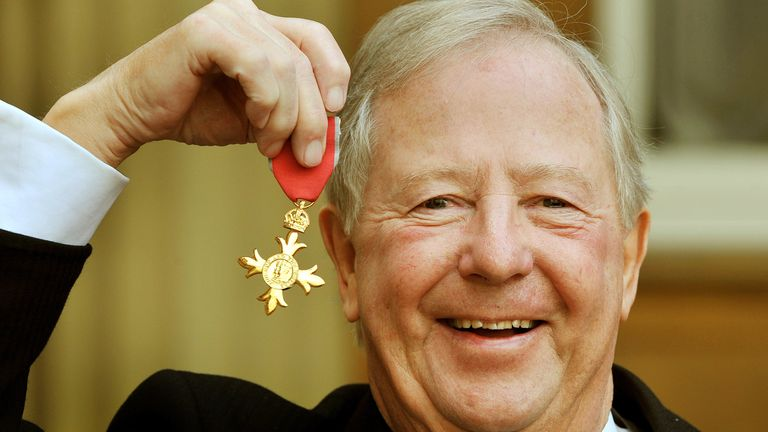 Tim Brooke-Taylor was awarded an OBE in 2011