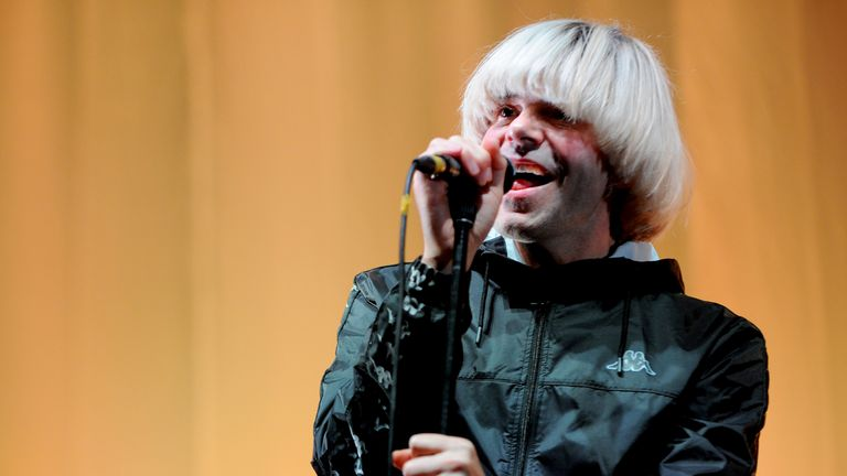 Tim Burgess performing with The Charlatans in 2018