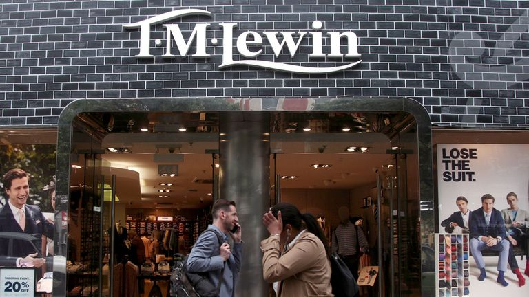 A branch of TM Lewin on Oxford Street, central London 29/5/2018