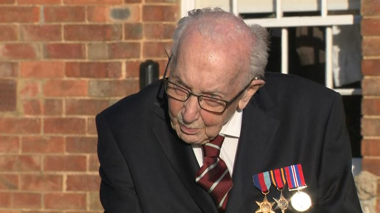 Thomas Moore - army veteran raises more than £8m for the NHS