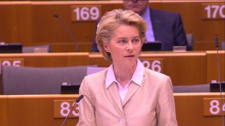 The President of the European Commission Ursula  von der Leyen apologised to Italy for the EU's coronavirus response.