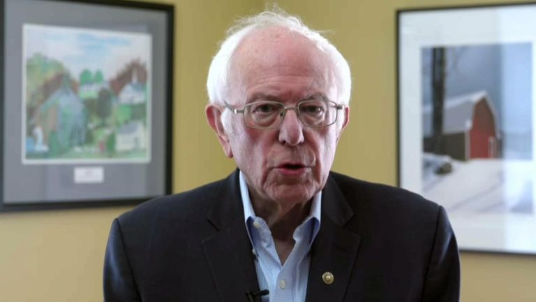 US Democratic presidential candidate Bernie Sanders formerly suspends his 2020 US election campaign