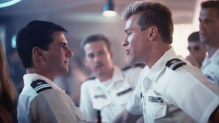 Tom Cruise, and Val Kilmer in Top Gun, 1986. Pic: Paramount/Kobal/Shutterstock