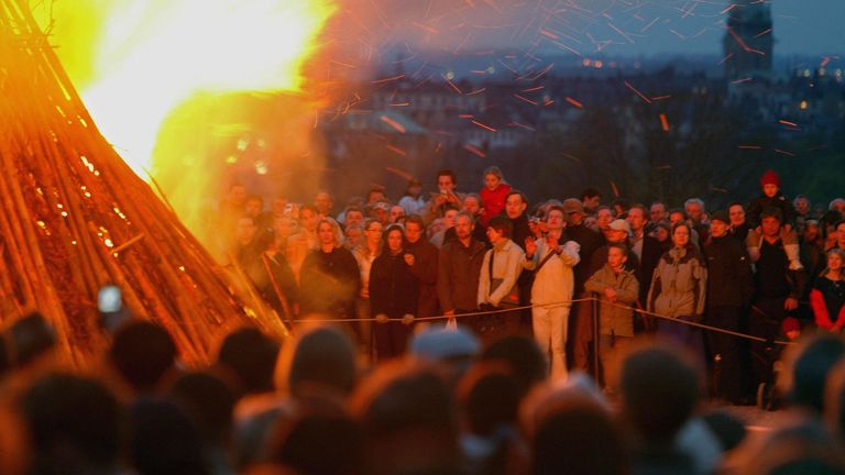 Valborg is marked across Sweden with huge bonfire parties