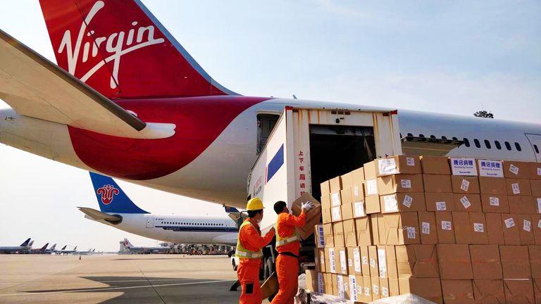 The supplies were flown in from Shanghai