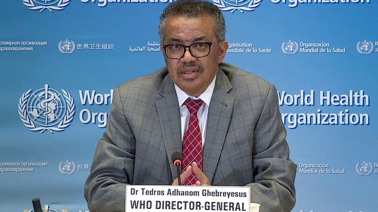 WHO Chief Tedros Adhanom Ghebreyesus said the crisis should not be 'politicised'