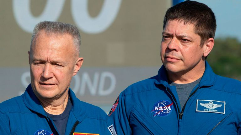 NASA Astronauts Doug Hurley (L) and Bob Behnken will be sent on the mission on 27 May