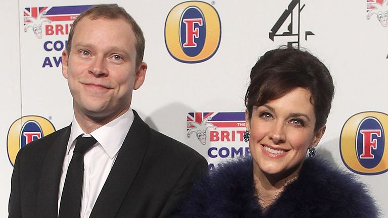 Webb and his wife Abigail Burdess at the British Comedy Awards in 2012