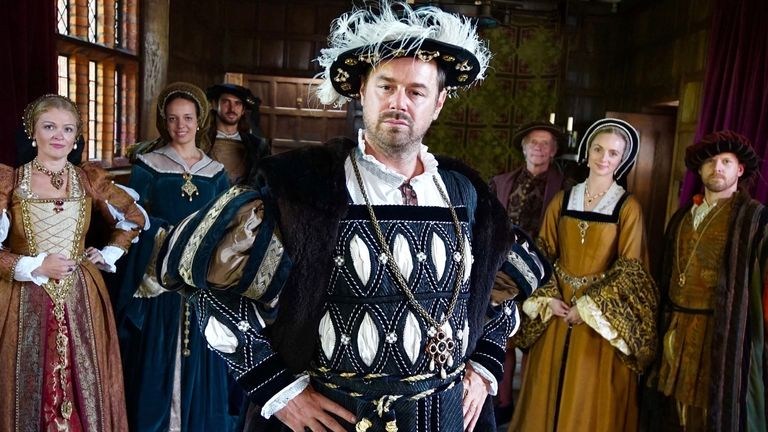 Danny Dyer as King Henry VIII. Pic: Wall to Wall Media