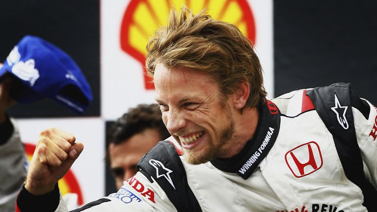 Button looks back at the unforgettable moment when he collected his first-ever F1 victory at the Hungarian GP in 2006