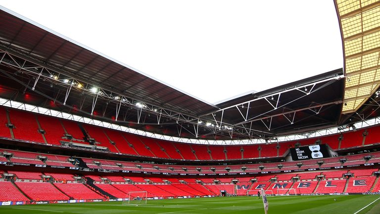 Wembley could stage games behind closed doors in an attempt to finish the 2019/20 season