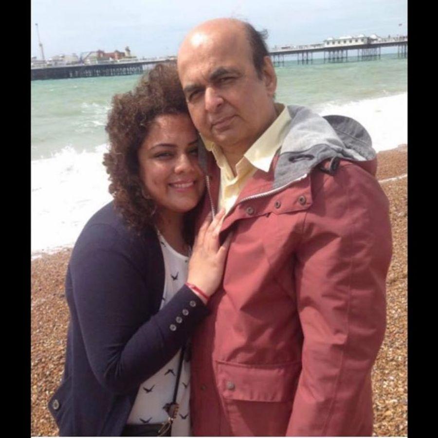 Pharmacist Pooja Sharma and her father Sudhir
