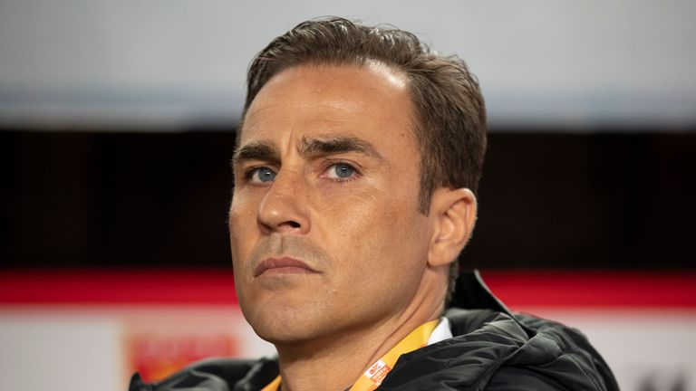 Fabio Cannavaro wants to manage in Europe and praised the standard of the Premier League