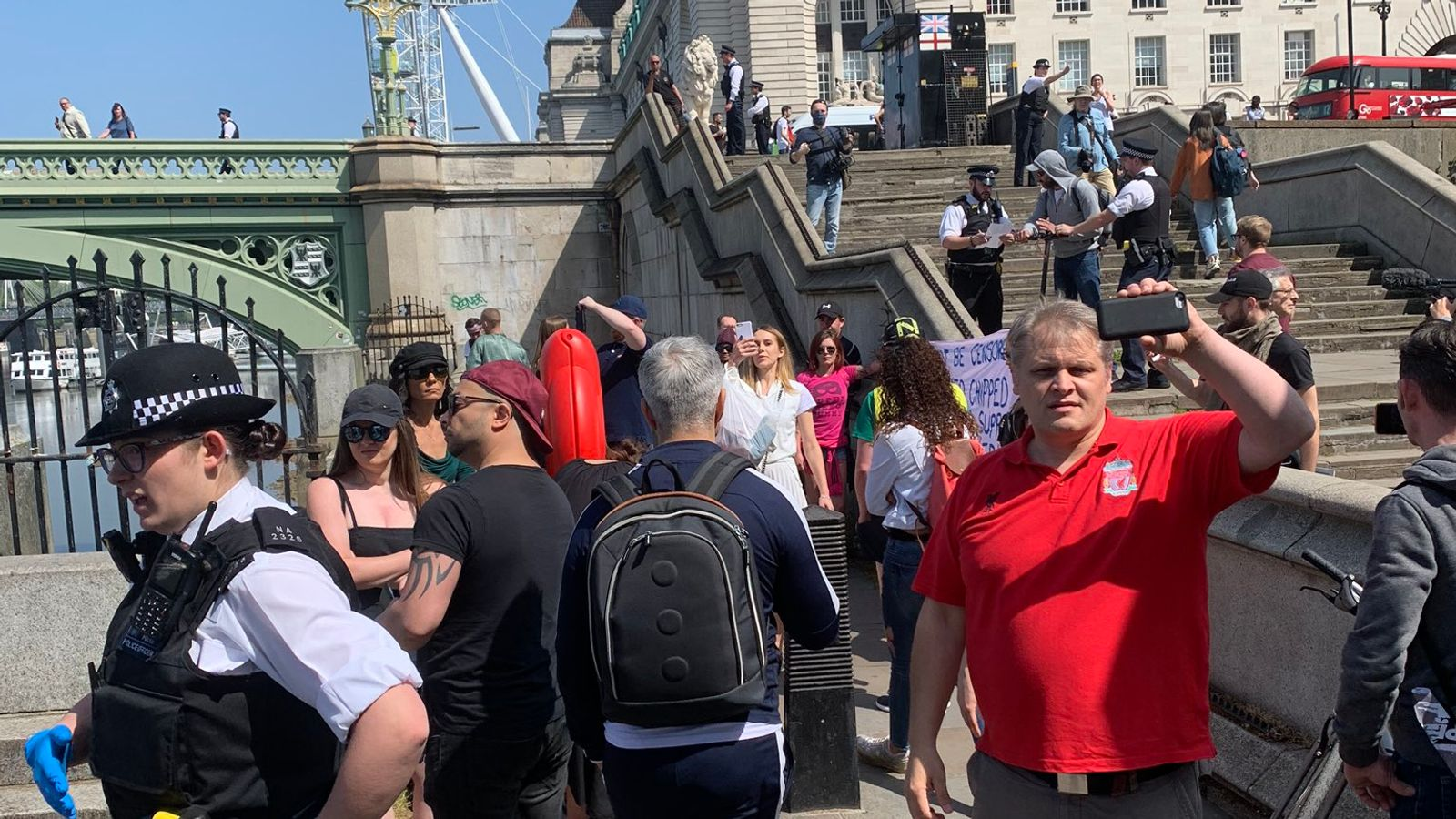 Coronavirus Anti Lockdown Protest Broken Up By Police In London Uk News Sky News