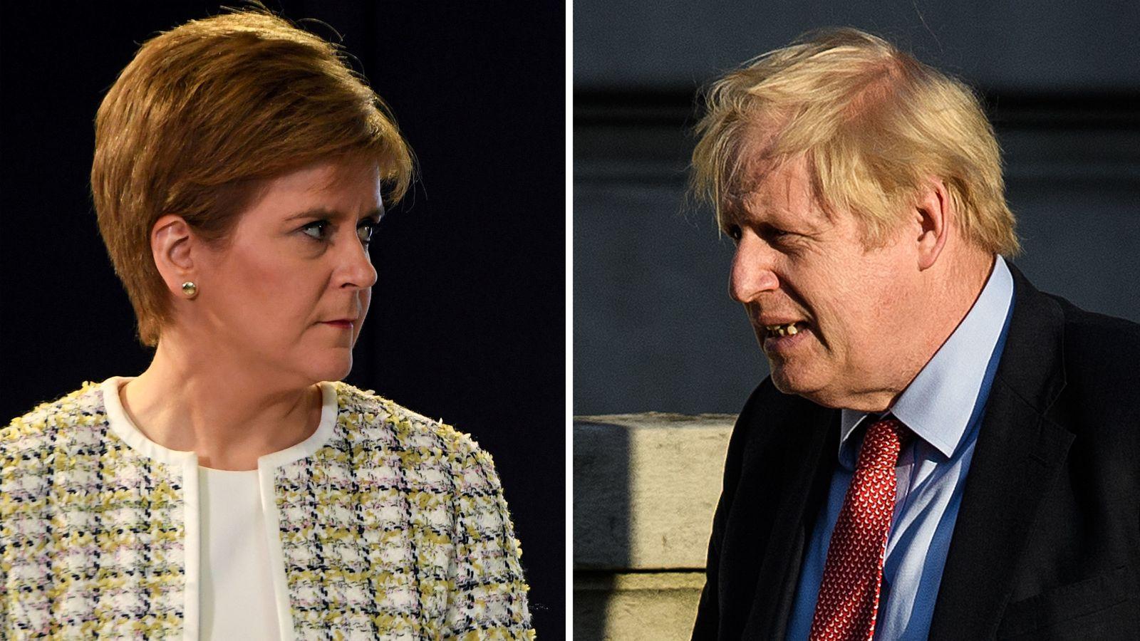 Scottish independence referendum: Nicola Sturgeon tells Boris Johnson new vote is 'when, not if'