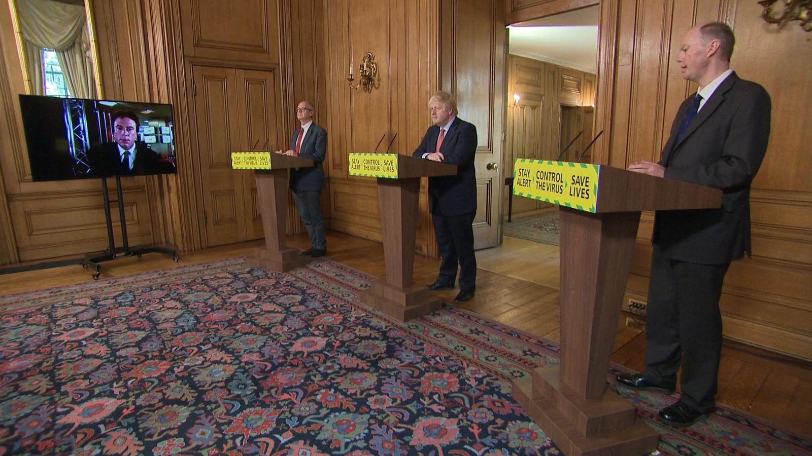 Coronavirus: Boris Johnson stops Chris Whitty and Patrick Vallance answering questions on Dominic Cummings