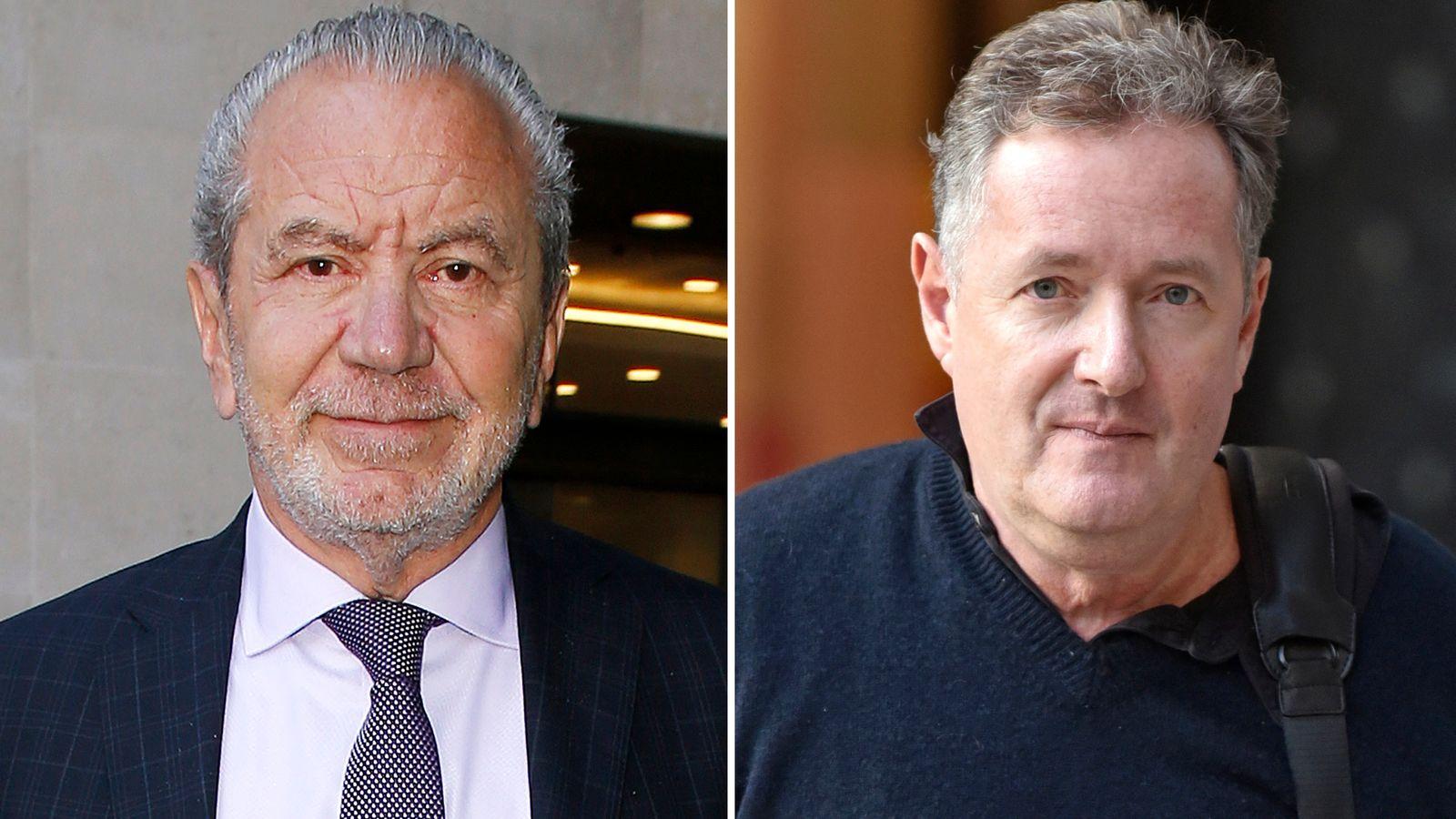 Piers Morgan's lockdown behaviour 'irresponsible and disgusting', Lord Sugar says thumbnail