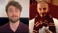 Daniel Radcliffe and David Beckham