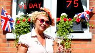Many Britons raised a toast to the wartime generation in the sunshine
