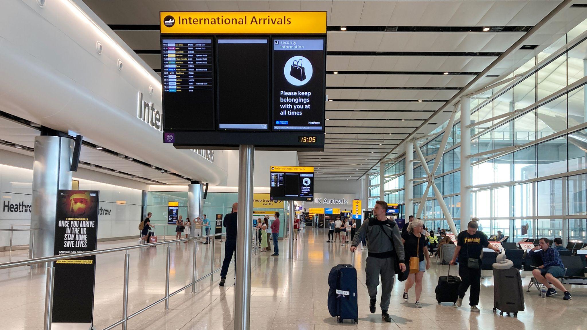 Coronavirus: Heathrow trials thermal imaging temperature checks for Terminal  2 arrivals | Travel News | Sky News