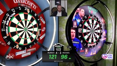 Murray wins after 121 finish on bullseye