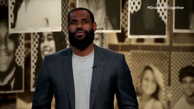 LeBron's message for students