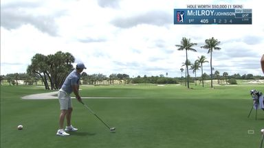 Golf is back! McIlroy hits the first shot