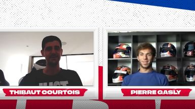 Courtois impresses Gasly at virtual F1