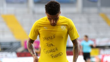 Sancho calls for 'justice' for George Floyd