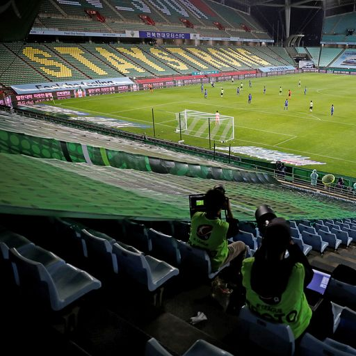 South Korea football kicks off behind closed doors