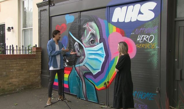 Coronavirus: Artists turn pandemic struggles into street murals