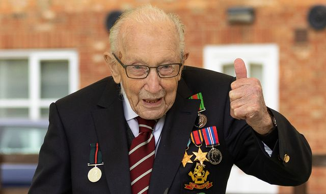 Coronavirus: Captain Tom Moore to be knighted after raising £33m for NHS