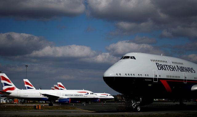 Coronavirus: British Airways burning '£178m of cash a week'