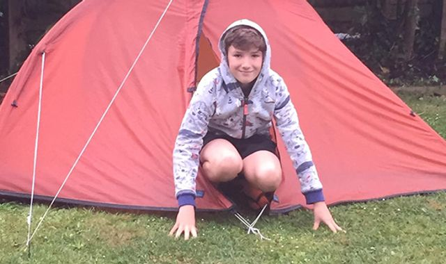 Coronavirus: Boy, 10, has camped in his garden since lockdown began to raise money for North Devon Hospice