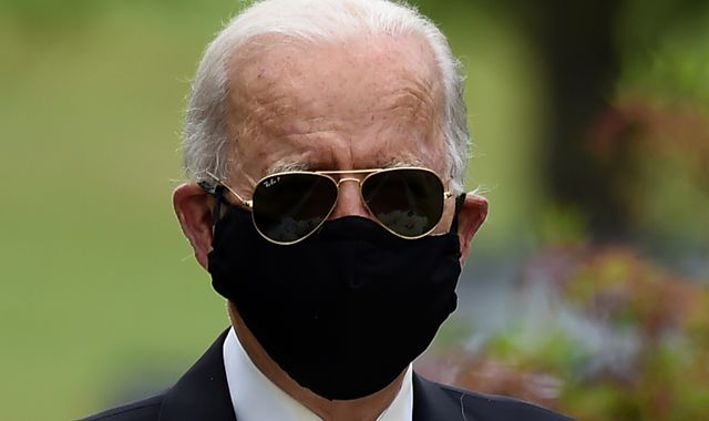 Coronavirus: Biden makes first public appearance for 10 weeks after COVID-19 isolation