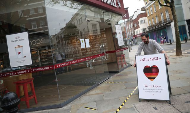 Coronavirus: Pret A Manger to reopen 200 more shops after lockdown