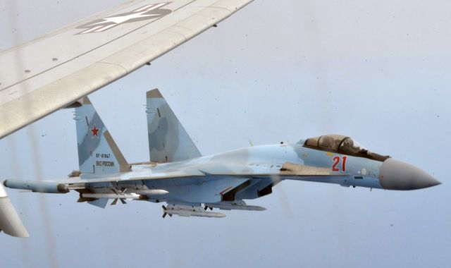 Russian fighter jets 'unsafely' intercept US plane over Mediterranean Sea