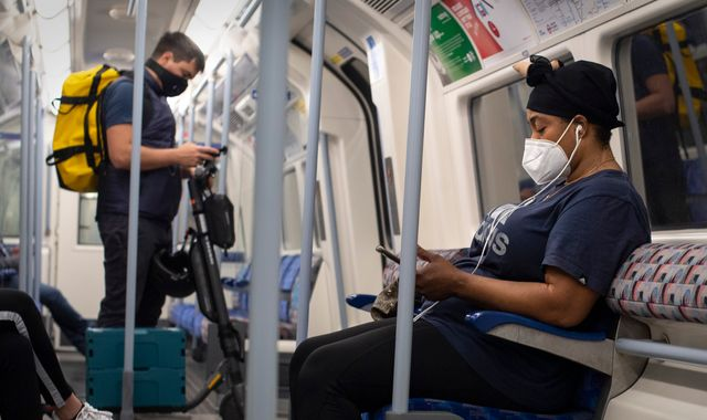 Coronavirus: Face coverings to be mandatory on public transport in England from 15 June