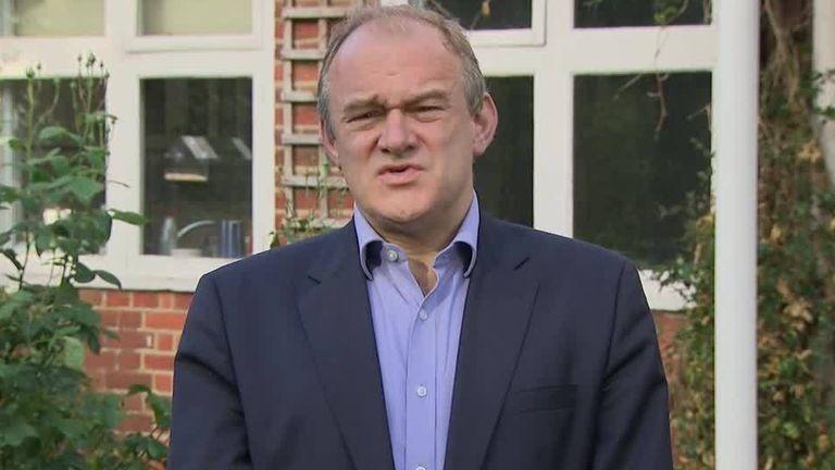 Liberal Democrat leader Ed Davey