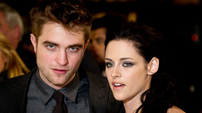 LONDON, ENGLAND - NOVEMBER 16: Robert Pattinson, Kristen Stewart attend the UK premiere of The Twilight Saga: Breaking Dawn Part 1 at Westfield Stratford City on November 16, 2011 in London, England. (Photo by Ian Gavan/Getty Images)