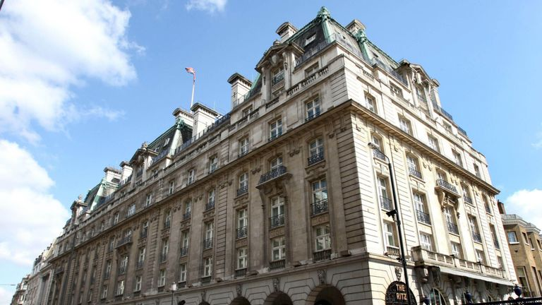"""Filephoto dated 17/04/08 of the Ritz Hotel on Piccadilly, London. Sir Frederick Barclay's nephews sold the Ritz hotel for """"half the market price"""" after secretly recording conversations between the billionaire co-owner and a Saudi investor offering 1.3 billion for the London landmark, the High Court has heard."""